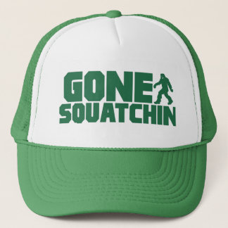 Green Bobo GONE SQUATCHIN Hat Finding Bigfoot
