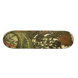 Green Bohemian Paisley Skate Board Deck