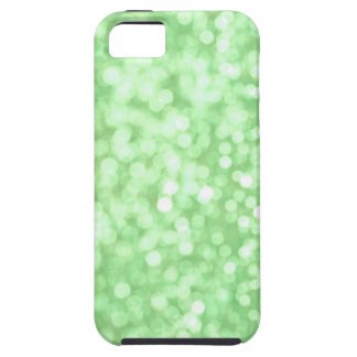 Green Bokeh Sparkle iPhone Case