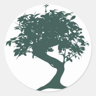 Green Bonsai Tree Sticker
