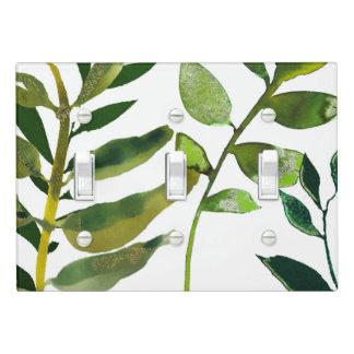 Green Botanical Glam Plant Leaves Elegant Chic Light Switch Cover