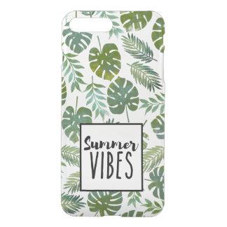 Green botanical leaf iPhone 7 plus case