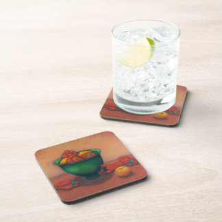 Green bowl still life coaster