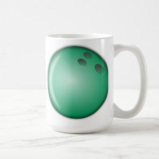 Green Bowling Ball Coffee Mug