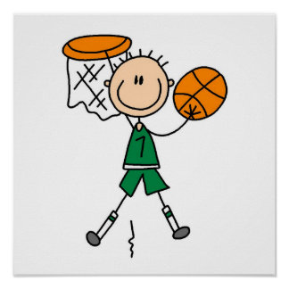 Green Boy Basketball Player t-shirts and Gifts Print