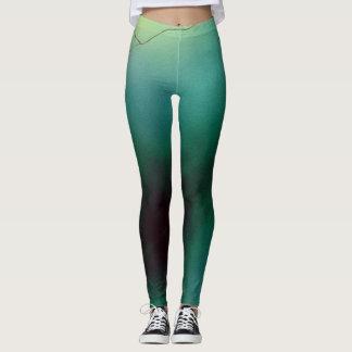 Green Branch Leggings
