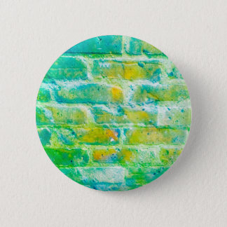 Green bricks badge 2 inch round button