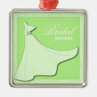 Green Bridal Gown - Bridal Shower Ornament