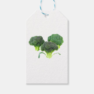 Green Broccoli Crowns on White Gift Tags