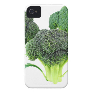 Green Broccoli Crowns on White iPhone 4 Case