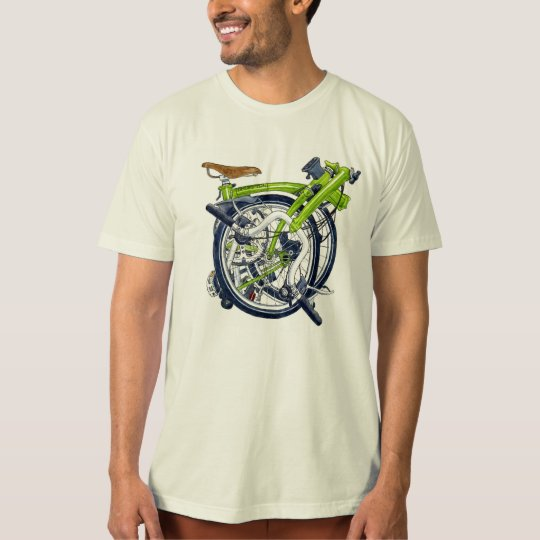 Green Brompton bicycle T-shirt