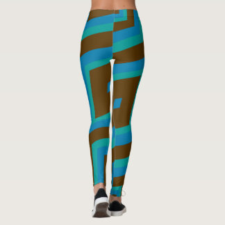Green brown and blue leggings