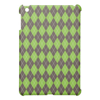 Green Brown Argyle Plaid Pattern iPad Mini Cases