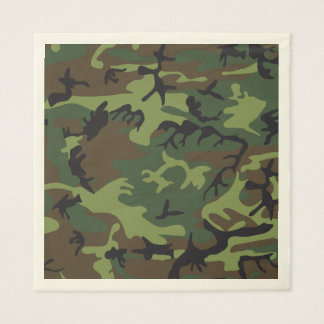 Green Brown Camouflage. Camo your Disposable Napkins