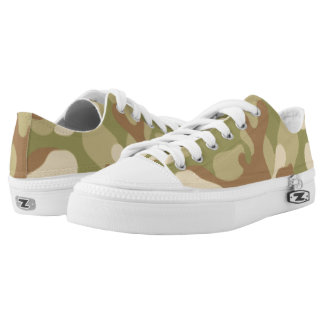 Green Brown Camouflage. Camo your Low-Top Sneakers