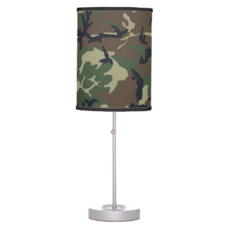 Green Brown Camouflage Custom Lamp
