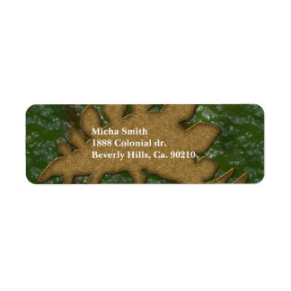 Green & Brown Dinosaur Skin Monogram Return Address Label