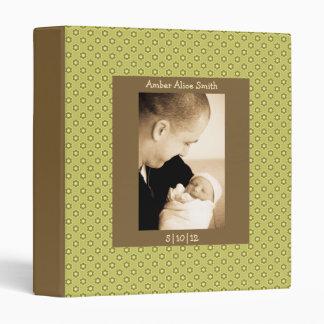Green & Brown Floral Baby Book Vinyl Binder