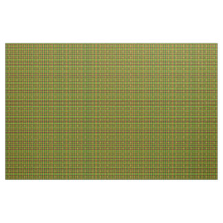 Green Brown Fractal Pattern Fabric