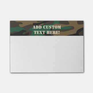 Green Brown Military Camo Camouflage Post-it Notes