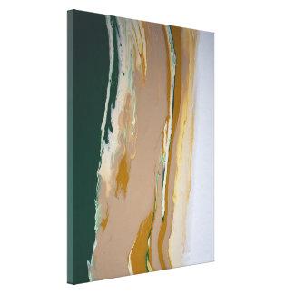 Green Brown Neutral Fluid Art Abstract Modern
