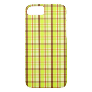 Green brown plaid pattern iPhone 7 case