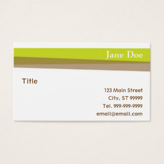 Green & Brown Stripes Business Card