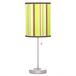 Green brown stripes pattern desk lamps