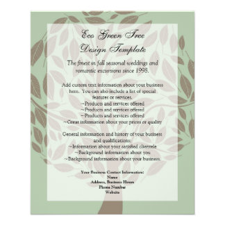 Green/Brown Stylized Eco Tree Recycled Paper Flyer