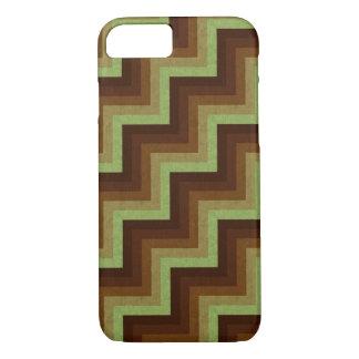 Green Brown Zigzag Geometric Pattern iPhone 7 iPhone 7 Case