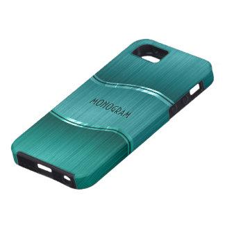 Green Brushed Aluminum Metallic Look Customized iPhone 5 Case