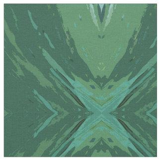 Green Brushstroke Medallion by Margaret Juul Fabric
