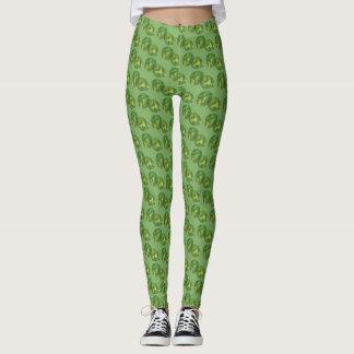 Green Brussels Sprouts Vegetarian Vegetable Foodie Leggings