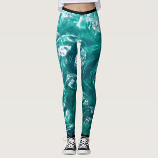 Green Bubble Wrap Leggings