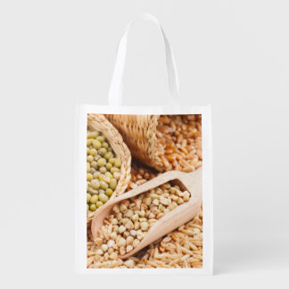 Green Buckwheat, Wheat, Oat And Mung - Cereal Grocery Bags