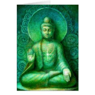 Green Buddha Card