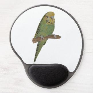 Green Budgie Art Gel Mousepad