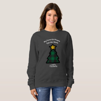 Green Buffalo Plaid Christmas Tree Sweatshirt