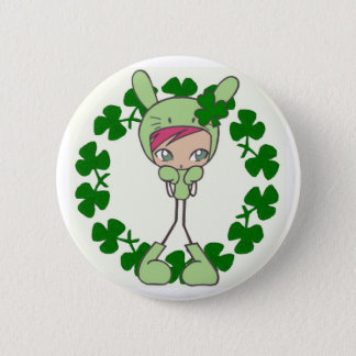 green bunny 2 inch round button