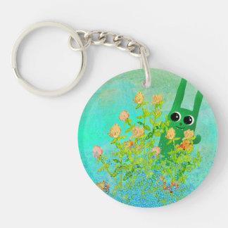 green bunny key chain