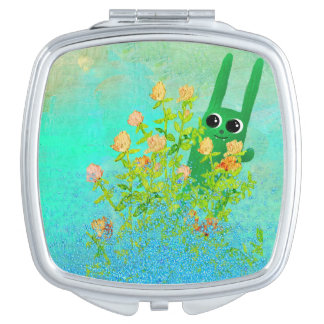 green bunny mirrors for makeup