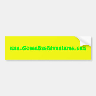 Green Bus Adventure Yellow Flowers Bumper Sticker