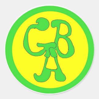 Green Bus Adventures - GBA - Circle Sticker