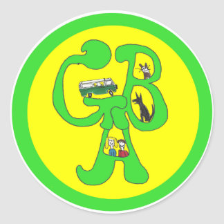 Green Bus Adventures - Sticker - Letters & Drawing