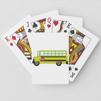 Green Bus Playing Cards