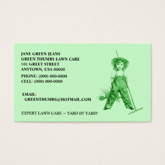 GREEN BUSINESS CARDS ~ HEIRLOOM ORGANIC LAWNCARE +