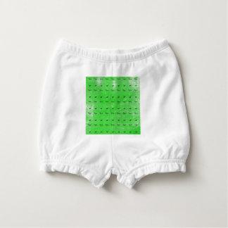 Green butterflies diaper cover