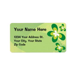 Green Butterflies Personalized Address Label