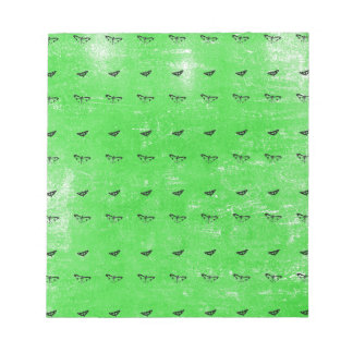 Green butterflies notepad