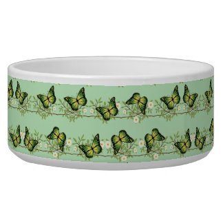 Green butterflies pattern